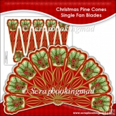 Christmas Pine Cones Single Fan Blades