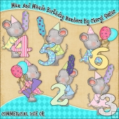 Max And Maude Birthday Numbers ClipArt Graphic Collection