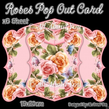 Roses Pop Out Card & Envelope Set
