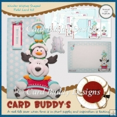 Winter Wishes Shaped Fold Card Kit