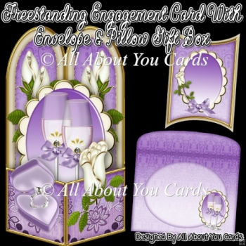 Freestanding Engagement Card & Envelope & Pillow Gift Box