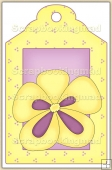 Yellow Pansie Tag - REF_T433