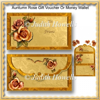 Autumn Rose Gft Voucher Or Money Wallet