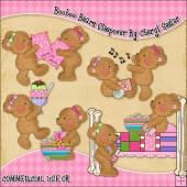 Booboo Bears Sleepover ClipArt Graphic Collection
