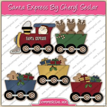 Clipart santa express train clipart graphic collection ref cs