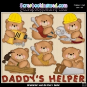 Booboo Bears Daddys Helper ClipArt Collection