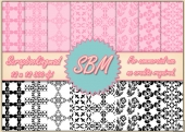 8 PNG Paper Overlays 12 x 12 Designer Resources Pack 4