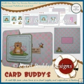 Will You Bee My Honey Rounded Square Pyramage Foldback Card Kit