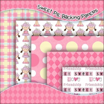 5 Sweetie Pie Backing Papers Download