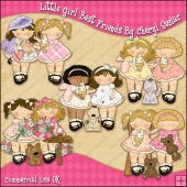 My Little Girl Best Friend ClipArt Graphic Collection