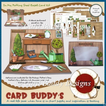 In My Potting Shed Easel Card Kit