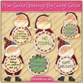 Prim Santa Greetings Graphic Collection - REF - CS