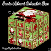 Santa Advent Calendar Box