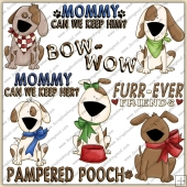Lil Pupps ClipArt Graphic Collection