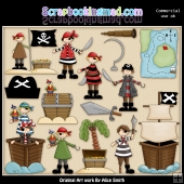 Arrgh The Pirate ClipArt Graphic Collection