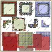 Christmas Frames & Corners ClipArt Graphic Collection