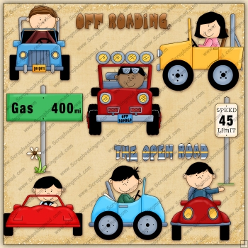 On The Road Again ClipArt Graphic Collection
