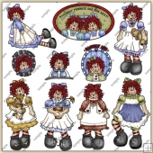 Raggedy Ann ClipArt Graphic Collection 1