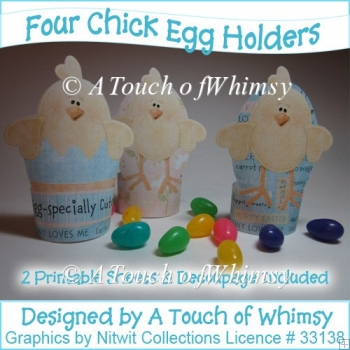Four Chick Egg Holders