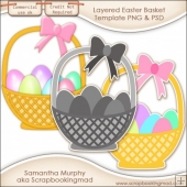 Layered Easter Basket Template PNG & PSD - CU OK