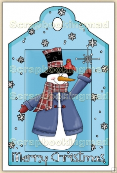 Christmas Snowman Decorative Tag - REF_T10