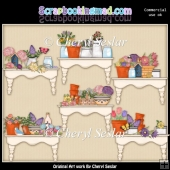 Beautiful Flower Shelves Day ClipArt Collection