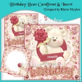 Birthday Bear Cardfront & Insert