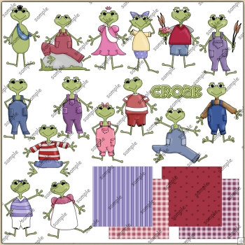 Froggers ClipArt Graphic Collection