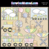 Baby Shower Celebration ClipArt Graphic Collection