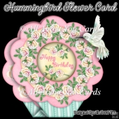 Hummingbird Flower Shaped Card