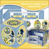 Denim and Daisies Secret Treasure Box