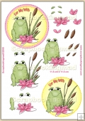 For My Wife Froggie PDF Decoupage Download