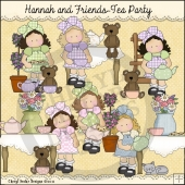 Hannah and Friends Tea Party ClipArt Graphic Collection