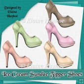 Ice Cream Sundae Zipper Shoes