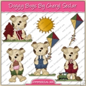 Doggy Boys ClipArt Graphic Collection - REF - CS