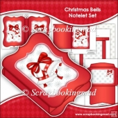 Christmas Bells Notelet Set