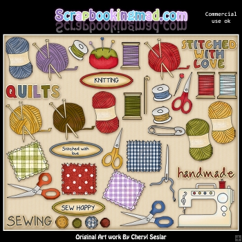 Sew With Me ClipArt Collection