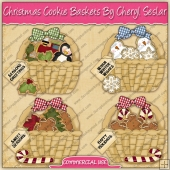 Christmas Cookie Baskets Graphic Collection - REF - CS