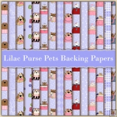 15 Lilac Purse Pets Backing Papers Download (C221)