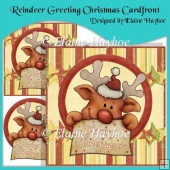 Reindeer Greeting Christmas Cardfront