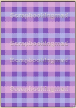 Backing Papers Single - Purple Gingham - REF_BP_65