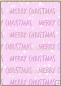 Backing Papers Single - Pink Merry Christmas - REF_BP_5