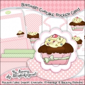 Pink Birthday Cupcake Rocker Card Download
