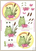Ribet Birthday Froggie PDF Decoupage Download