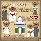 Wedding Bears ClipArt Graphic Collection