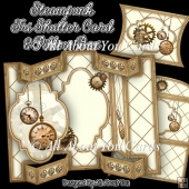 Steampunk Tri Shutter Card Set