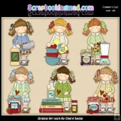 Holly The Kitchen Helper ClipArt Graphic Collection