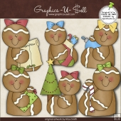 Christmas Gingers 1 ClipArt Graphic Collection
