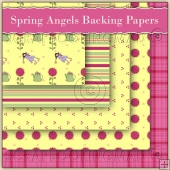 5 Spring Angels Backing Papers Download (C60)