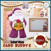 Believe In Santa Shaped Fold Card Kit